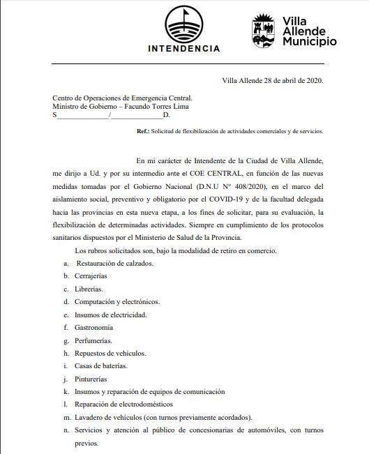 Carta eduardo Romero